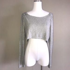 Zella Long Sleeve Crop Top Size Medium